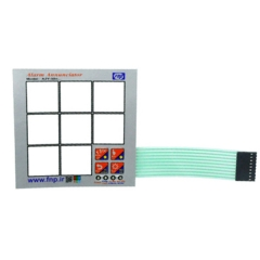LED Membrane Keypad Switch for Compact Alarm Annuniciator