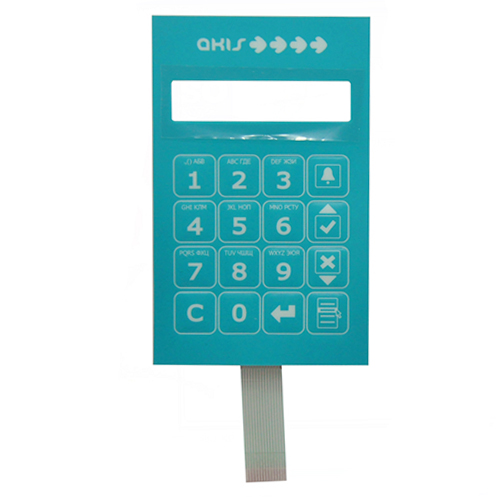 Silver esd Shielding layer metal dome embossing key tactile membrane switch