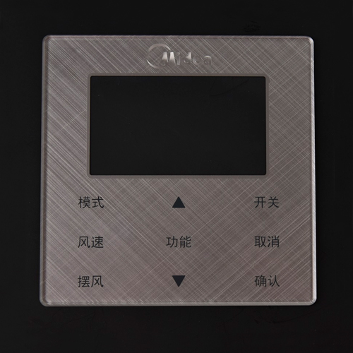 Customized surface texture air conditioning switch control panel